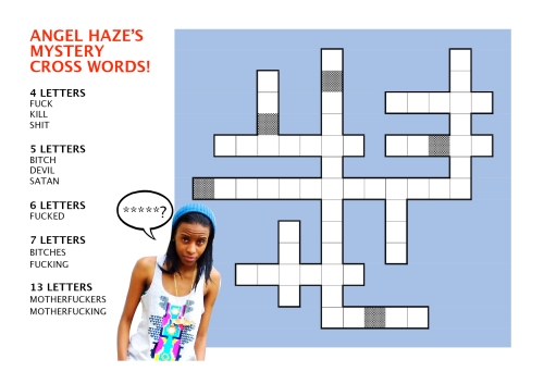 angel haze cross words
