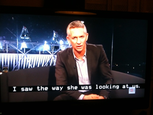 The Olympics! And Gary Lineker was spoiling for a fight