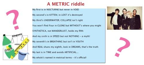metric riddle