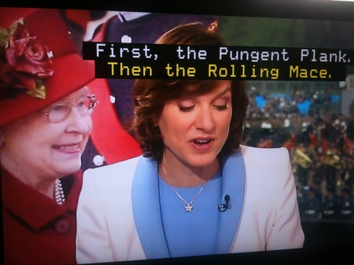 June brought the Diamond Jubilee celebrations, and Fiona Bruce got carried away with some of the terminology