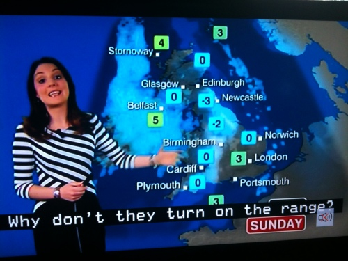 The year began with a nasty cold snap, and the BBC Weather Department started to get frustrated at the public's apathy
